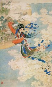 358px-Chang'e_Flying_to_the_Moon_(Ren_Shuai_Ying).jpg